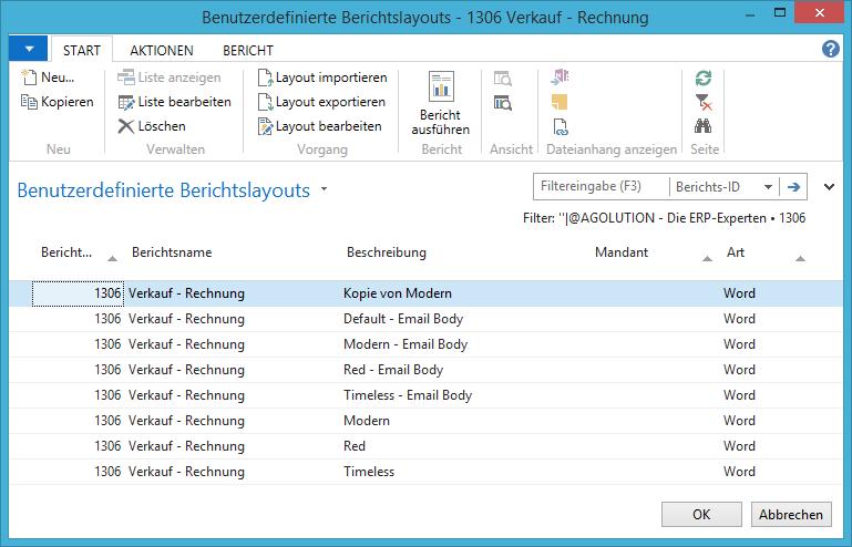 Erp Belege In Microsoft Word Erstellen Agolution Gmbh